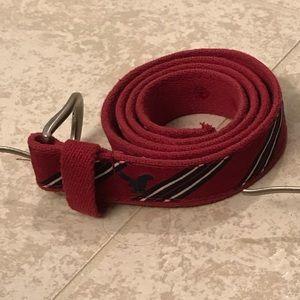 American Eagle Red Striped Belt